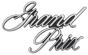 1971-1972 Grand Prix Deck Lid Script, 1971-72 Grand Prix