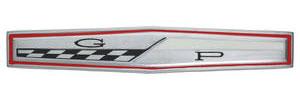 """Deck Lid Emblem, 1963 Grand Prix """"GP"""""""