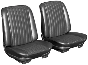1970-1970 GTO Seat Upholstery, 1970 Reproduction GTO and Lemans Buckets, Front, by PUI