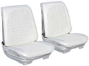 1971-1971 GTO Seat Upholstery, 1971 Reproduction GTO and Lemans Sport and Luxury Buckets, Front, by PUI
