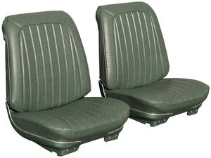 Seat Upholstery, 1971-72 Reproduction GTO and Lemans Sport and Luxury Buckets, w/Convertible Rear, by PUI