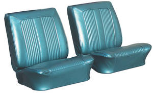 1964-1964 GTO Seat Upholstery, 1964 Reproduction Bucket GTO and Lemans Buckets, w/Convertible Rear, by PUI