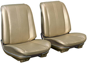 1966-1966 GTO Seat Upholstery, 1966 Reproduction GTO and Lemans Split Bench (w/Armrest), w/Convertible Rear