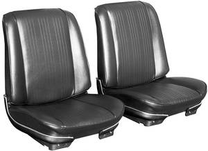 Seat Upholstery, 1967 Reproduction GTO and Lemans Buckets, w/Coupe Rear