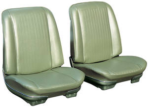 Seat Upholstery, 1968 Reproduction GTO and Lemans Buckets, w/Convertible Rear, by Distinctive Industries