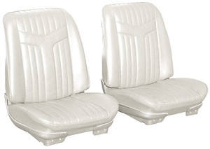 Seat Upholstery, 1969 Reproduction Lemans Custom Split Bench (w/o Armrest), w/Coupe Rear
