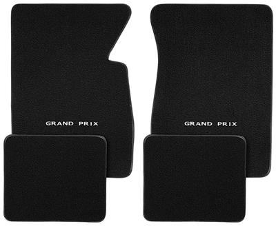 "1962-1968 Floor Mats, Carpet Matched Oem Style Carpet ""Grand Prix"" Script"