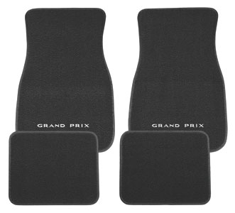 "1969-77 Floor Mats, Carpet Matched Oem Style Carpet ""Grand Prix"" Script"