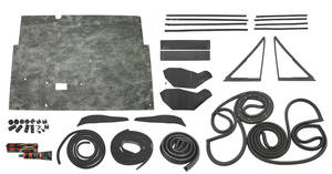 1966-1966 Tempest Stage II 2-Door Post Weatherstrip Kit Tempest