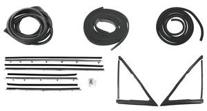 1968-1968 LeMans Stage I 2-Door Post Weatherstrip Kit GTO/LeMans