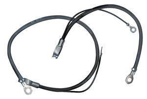 1971-1972 GTO Battery Cable, Spring Ring Negative V8, Exc. 455, by M&H