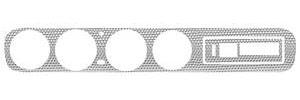 1964 GTO Dash Insert, Aluminum Swirl w/o AC