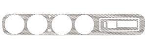 1964 GTO Dash Insert, Aluminum Swirl w/AC