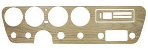 1966-1966 GTO Dash Insert, Walnut Wood Grain w/o AC