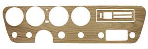 GTO Dash Inserts, 1967 Walnut Wood Grain w/o AC