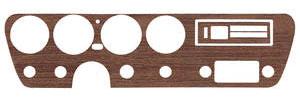 1967 GTO Dash Insert, Vinyl Wood Grain w/o AC