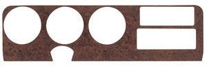 1971 GTO Dash Insert, Vinyl Wood Grain Upper Burlwood