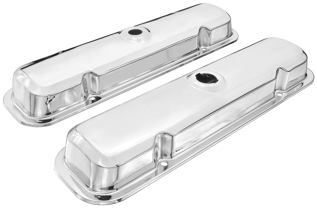 Photo of Catalina/Full Size Valve Covers, Chrome (Reproduction) w/oil drippers