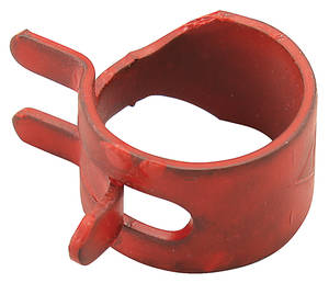 "1959-77 Bonneville Fuel Line Pinch Clamp 1/2"", Red"
