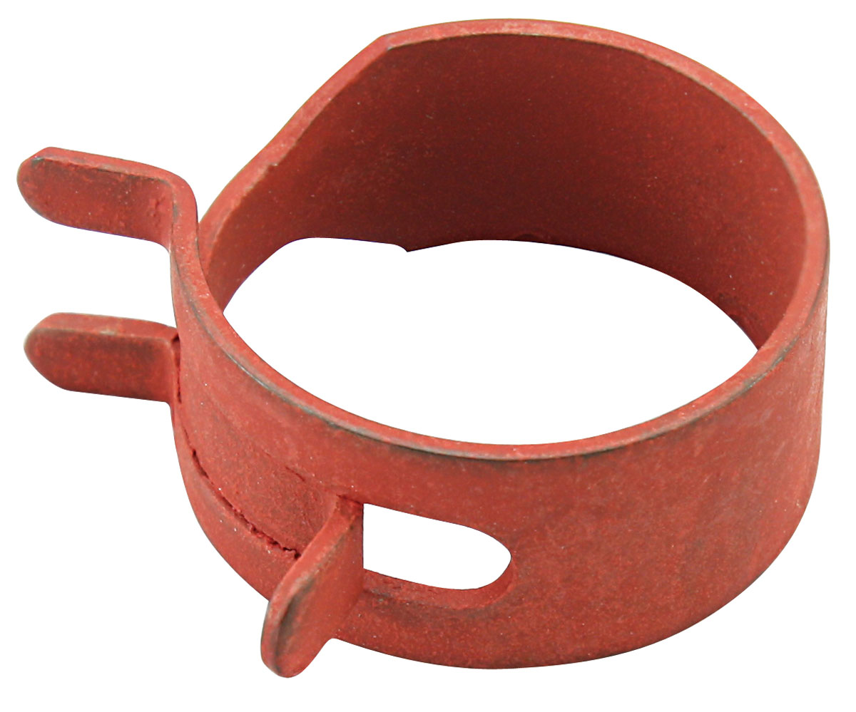 "Photo of Bonneville Fuel Line Pinch Clamp PVC line, 11/16"", Red phosphate"