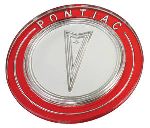 "1964 Grand Prix Steering Wheel Horn Button Emblem 2-3/4"" Diameter Correct Lucite Emblem"