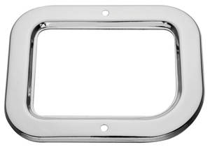 1960-64 Bonneville Shifter Boot Trim Plate, 4-Speed (with or without Console; with Bucket Seats)