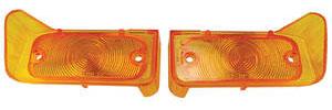 1964-1964 LeMans Park Lamp Lenses (GTO, Tempest & LeMans) Amber
