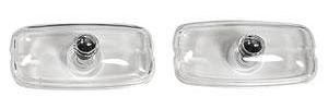 Park Lamp Lenses, 1966-67 Clear, GTO