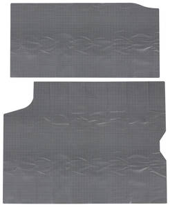1964-66 LeMans Trunk Mat 2-Piece (Gray/Black)