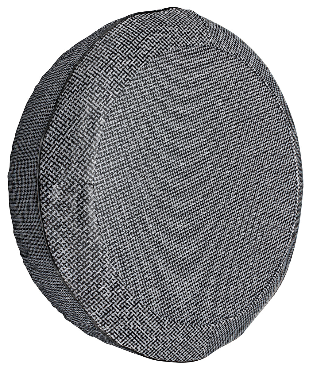 """Photo of LeMans Trunk Spare Tire Cover Houndstooth 14"""" gray"""