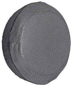 "1967-68 Grand Prix Trunk Spare Tire Cover 15"" Gray/Black (Herringbone)"