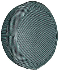 "1964-1968 Tempest Trunk Spare Tire Cover Houndstooth 14"" Aqua"