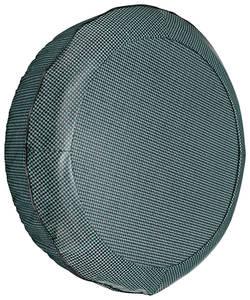 """1964-68 LeMans Trunk Spare Tire Cover Houndstooth 14"""" Aqua"""