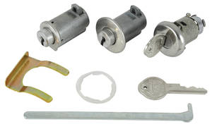 1963-1964 Grand Prix Lock Set: Console, Glove Box & Trunk Round Keys