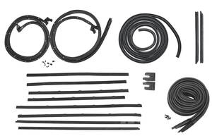 1968-1968 LeMans Stage I Coupe Weatherstrip Kit GTO/Tempest/LeMans
