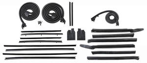 1966-67 Stage I Convertible Weatherstrip Kits Tempest