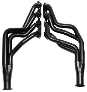 "1964-77 Chevelle Headers, High-Performance 396-502/Power Steering, Automatic/Manual (Floor Only), 2"" Tubes, 3"" Collector Black (1, 6, 45, 208)"