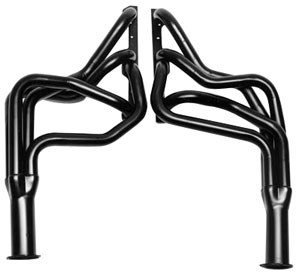 "1964-77 El Camino Headers, High-Performance 283-400/Power Steering, Automatic/Manual (Floor Only), 1-3/4"" Tubes, 3"" Collector Black (1, 6, 45, 218)"