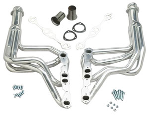 "1964-77 El Camino Headers, High-Performance 283-400/Power Steering, Automatic/Manual (Floor Only), 1-3/4"" Tubes, 3"" Collector HTC (1, 6, 45, 218)"