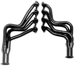 "1970-77 Monte Carlo Headers, High-Performance 396-502/Ac, Power Steering, Automatic/Manual (Floor Only), 1-3/4"" Tubes, 3"" Collector with HTC Coating (1, 4, 6, 20, 208)"