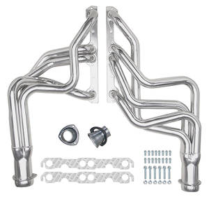 "1970-77 Monte Carlo Headers, High-Performance 283-400/Power Steering, Automatic/Manual (Floor Only), 1-5/8"" Tubes, 3"" Collector with HTC Coating (1, 6, 26, 45, 103)"