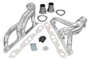 "1978-88 Malibu Headers, High-Performance 283-400/Power Steering, Manual (Floor Only), 1-5/8"" Tubes, 3"" Collector HTC (1, 6, 15, 31, 45, 103, 121)"