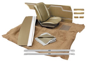 1970-1970 Chevelle Interior Kit, Chevelle Stage II, Bucket, Convertible