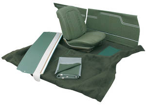 1971-72 Interior Kit, Stage I, Chevelle Convertible Split Bench