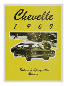 1969 Illustrated Facts Manual Chevelle