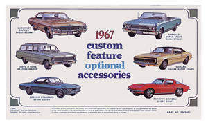 1967 El Camino Chevrolet Accessory Sales Folder