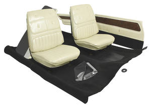 1972 Cutlass Interior Kits, Sports Coupe & Sedan Stage I Buckets 4-4-2