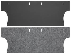 1966-67 Chevelle Trunk Divider Board & Jute Combo Kit Coupe