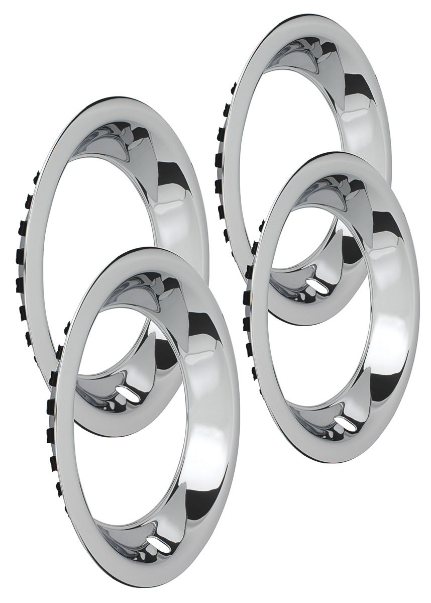 """Photo of Wheel Trim Rings, Reproduction Stainless Rally Round Lip 15"""" x 8 (2-7/8"""" deep)"""