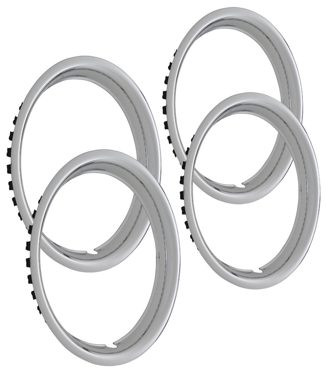 "Photo of Skylark Wheel Trim Rings, Reproduction Round Lip 14"" x 6"" (1-5/8"" deep)"